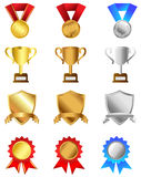 Trophies and awards set Royalty Free Stock Images