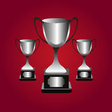 Trophies background Stock Image