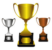 Trophies. Background design  illustration Stock Photos