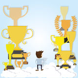 Trophies life Stock Image