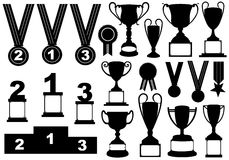 Trophies And Medals Set Royalty Free Stock Photography