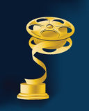 Trophy 02. Special cup for sound and movies  champions Stock Photo