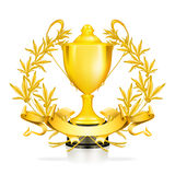 Trophy. Computer illustration, isolated on the white Royalty Free Stock Photo