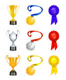 Trophy. Computer illustration, isolated on the white Royalty Free Stock Photos