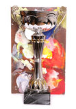 Trophy with art board Royalty Free Stock Photo