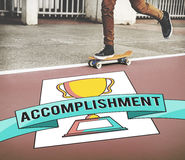Trophy Award Achievement Success Accomplishment Concept. Trophy Award Achievement Success Accomplishment Stock Image