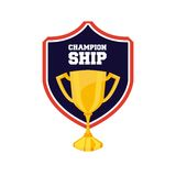 trophy award championship emblem Stock Photos