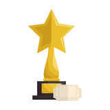 Trophy award cinema icon Royalty Free Stock Photos