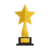 Trophy award cinema icon Stock Images