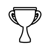 trophy award competition champion outline Stock Image