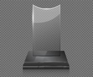 Empty glass trophy awards Stock Photography