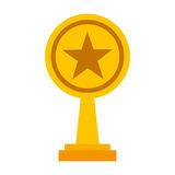 Trophy award isolated icon. Vector illustration design Stock Image