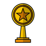 Trophy award isolated icon. Vector illustration design Royalty Free Stock Images