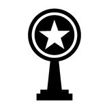 Trophy award isolated icon. Vector illustration design Stock Images