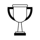 Trophy award isolated icon. Vector illustration design Stock Photography