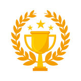 Trophy award isolated icon. Vector illustration design Stock Photo