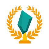 Trophy award isolated icon. Vector illustration design Stock Photos