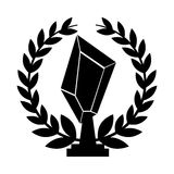 Trophy award isolated icon. Vector illustration design Royalty Free Stock Photos