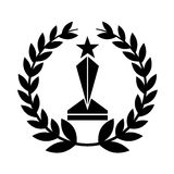 Trophy award isolated icon Royalty Free Stock Images