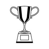 Trophy award isolated icon. Vector illustration design Royalty Free Stock Photo