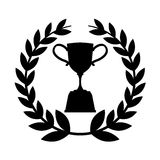Trophy award isolated icon. Vector illustration design Royalty Free Stock Photography