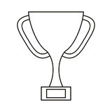 Trophy award sport win sport outline royalty free illustration