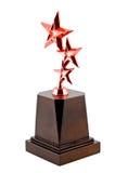 Trophy award for the winner. Bronze Trophy award for the winner Stock Photo