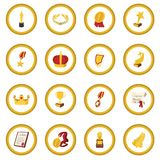 Trophy and awards cartoon icon circle. Cartoon isolated vector illustration Royalty Free Stock Images