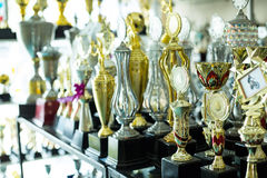 Trophy awards royalty free stock images