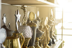 Trophy awards Stock Photo
