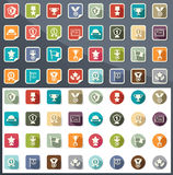 Trophy and awards icons Stock Image
