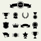Trophy and awards icons set Royalty Free Stock Images