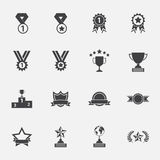 Trophy and awards icons set. Stock Photo
