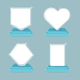 Trophy and awards icons set. Flat illustration symbols with empty space. Royalty Free Stock Photo