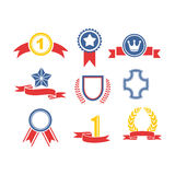 Trophy and awards icons set Stock Photography
