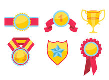 Trophy and awards icons set Royalty Free Stock Photography