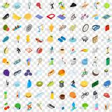 100 trophy and awards icons set, isometric style. 100 trophy and awards icons set in isometric 3d style for any design vector illustration Stock Image