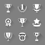 Trophy and Awards Icons Royalty Free Stock Photos
