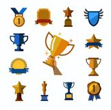 Trophy and awards icons Royalty Free Stock Images