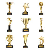 Trophy Awards Realistic Set Stock Photos