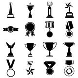 Trophy and awards simple icons set Stock Photo