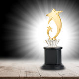 Trophy awards after successful winner Royalty Free Stock Images