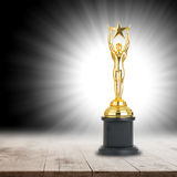 Trophy awards after successful winner Royalty Free Stock Image