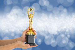 Trophy awards after successful winner. For your business Stock Image