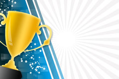 Trophy background Stock Image