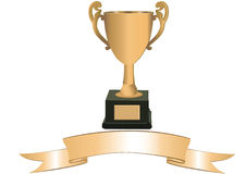 Trophy with banner Stock Photos