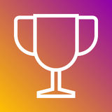 Trophy best champion icon in trendy flat style isolated on grey background. Internet and ecommerce symbol for your design, logo, U Royalty Free Stock Photography
