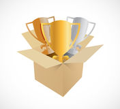 Trophy box illustration design Royalty Free Stock Photography