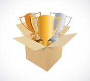 Trophy box illustration design Royalty Free Stock Photography