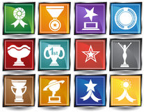 Trophy Buttons Royalty Free Stock Photos